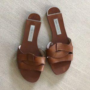 Tan Zara basic sandal